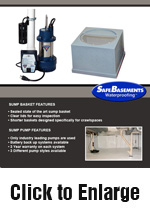 Crawlspace Sump Pump Systems